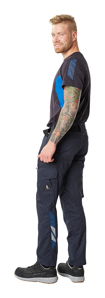 Navy - Trousers with kneepad pockets, T-shirt & Safety footwear - MASCOT® ACCELERATE - Man
