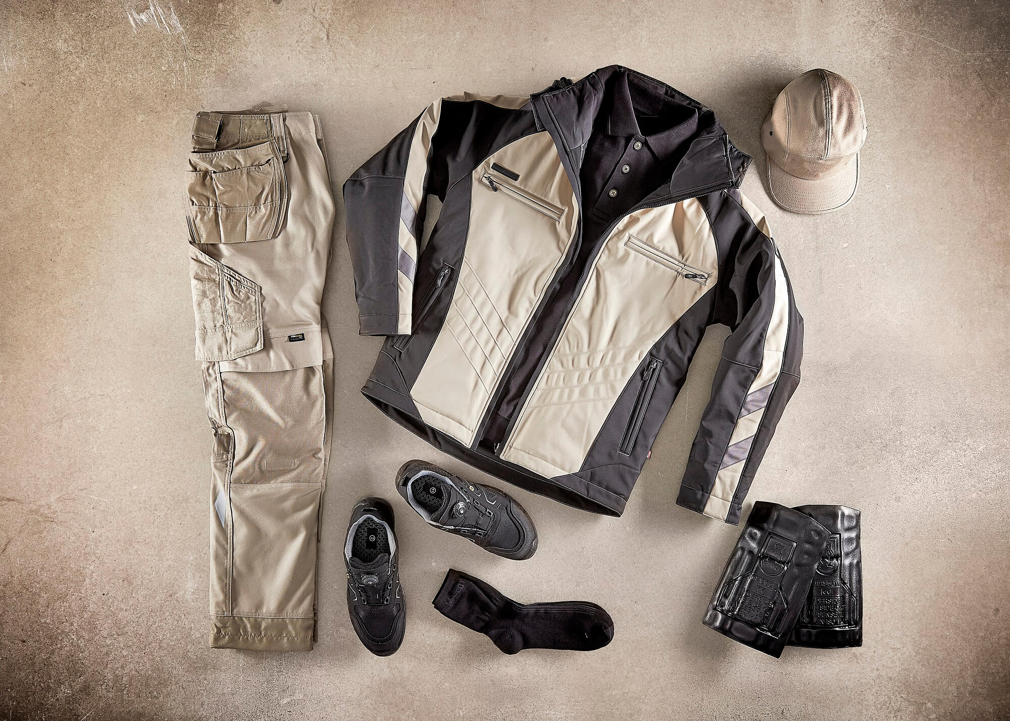 Khaki - Collage - Winter Jacket, Craftmen's Trousers & Accessories