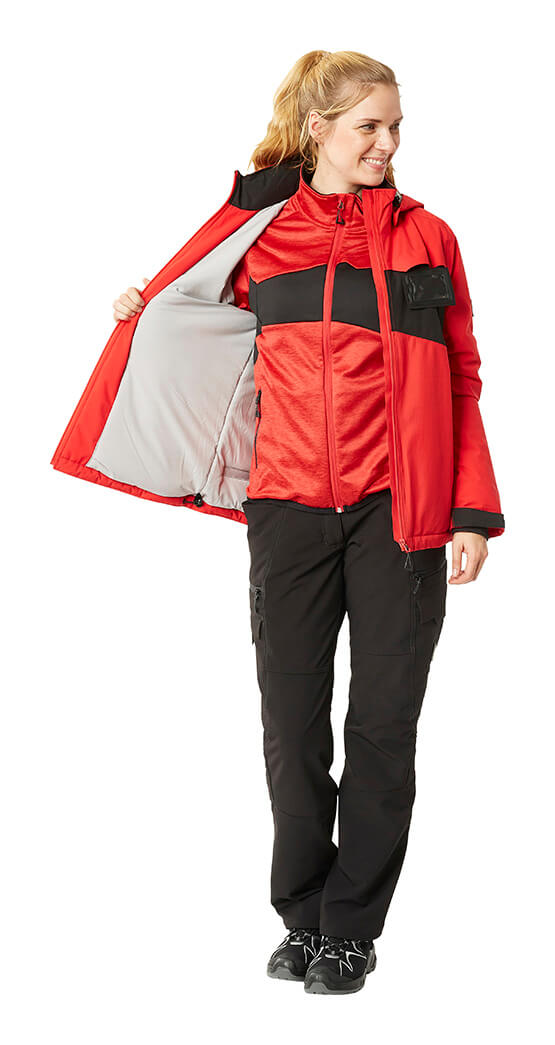 Red & Black - Winter Jacket & Trousers - Woman - MASCOT® ACCELERATE