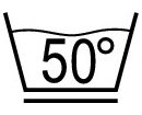 Permanent press, max. 50° C - Laundry Symbol