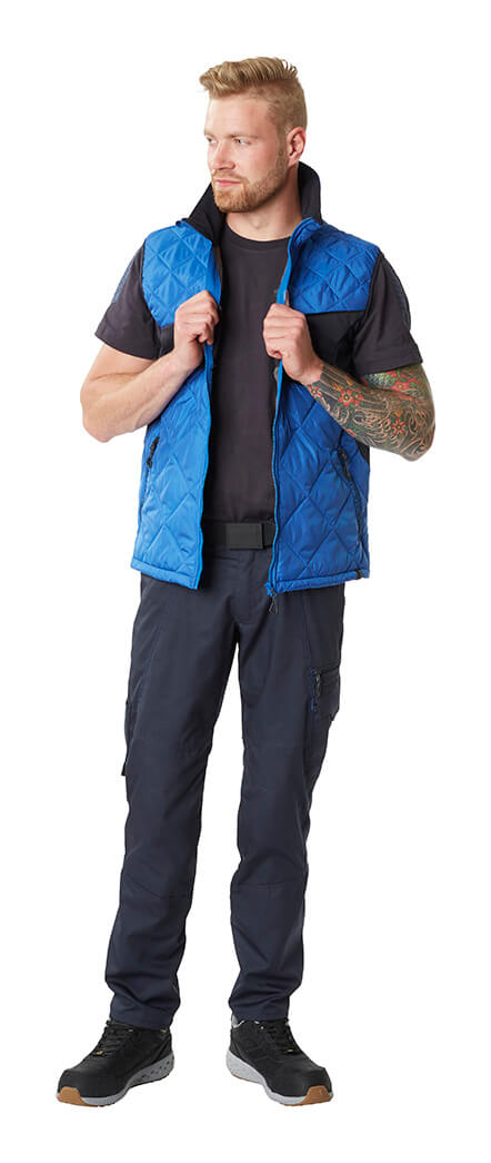 Work Gilet, T-shirt & Trousers - Royal blue/Navy - MASCOT® ACCELERATE