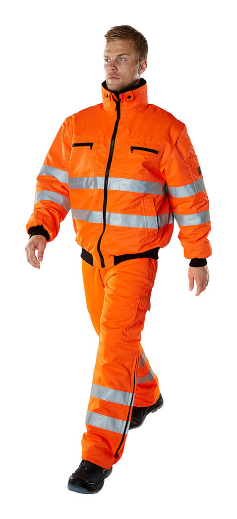 Model - Fluorescent orange - Winter Trousers & Work Jacket - MASCOT® SAFE ARCTIC