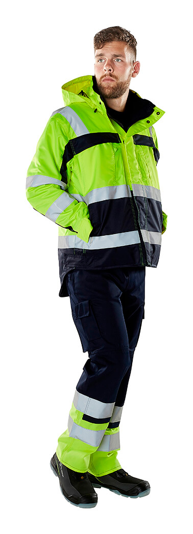 Work Jacket & Trousers - Fluorescent yellow - MASCOT® SAFE COMPETE - Model