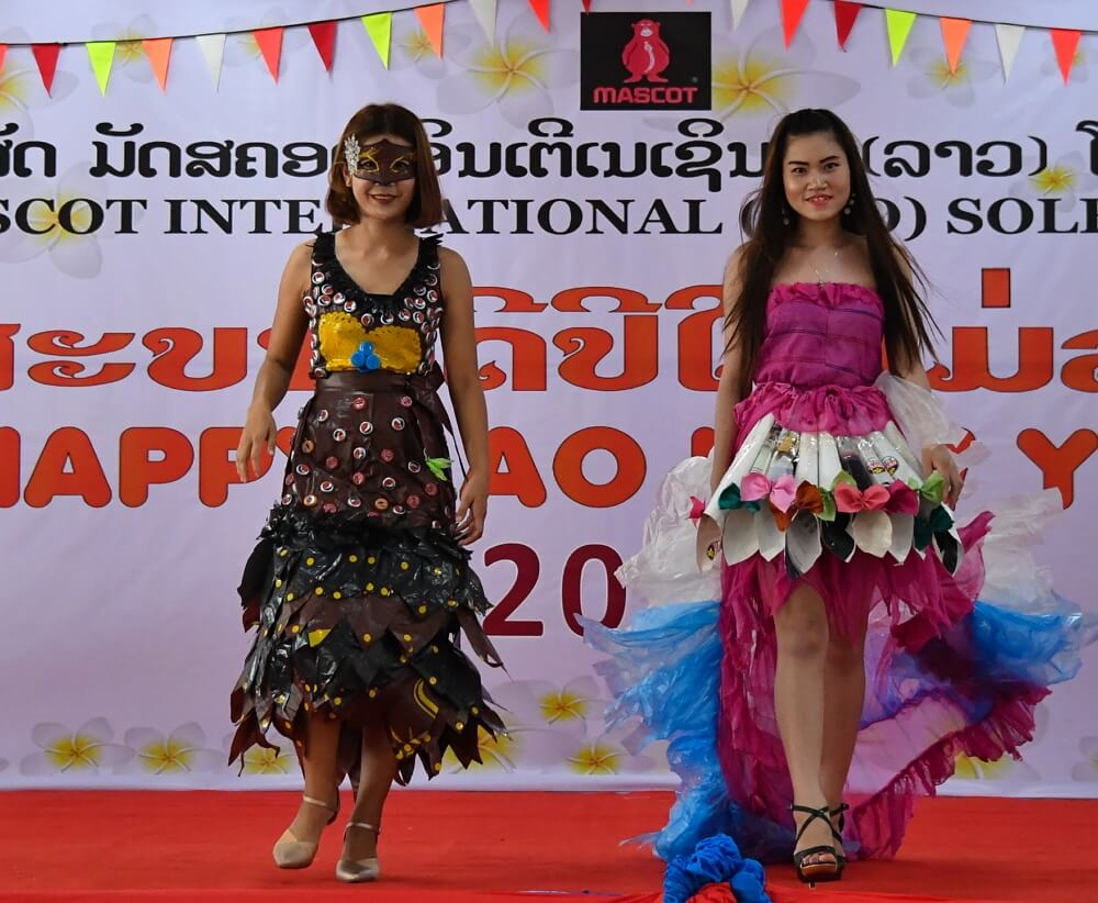 Good, safe and secure working conditions in production - New Years Laos - fashion show - 2019