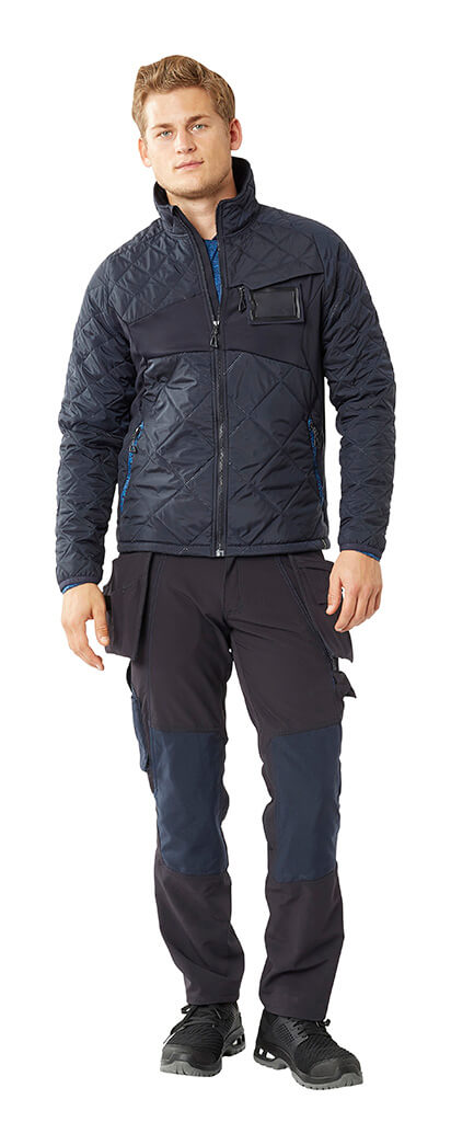Navy - Man - MASCOT® ACCELERATE Thermal Jacket & Trousers with kneepad pockets and holster pockets