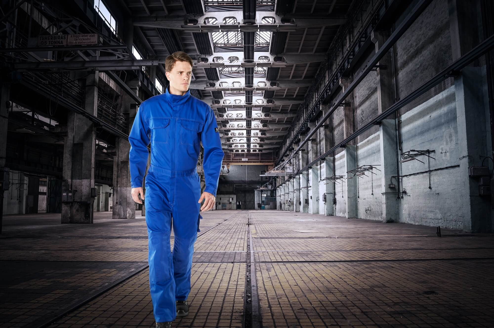 Boilersuit with kneepad pockets - Royal blue