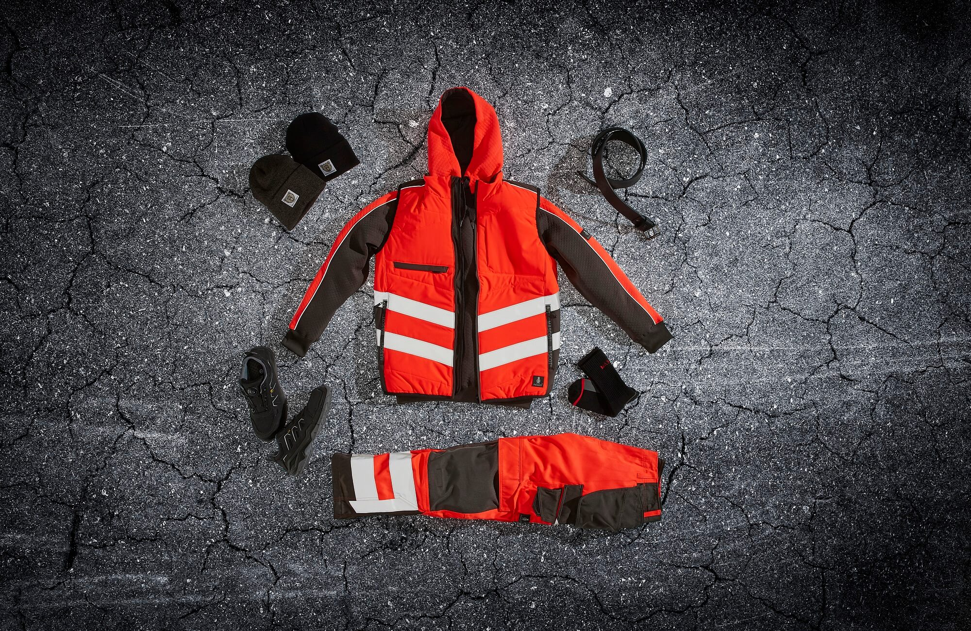 Traffic Vest, Hi-vis Trousers & Accessories - Red