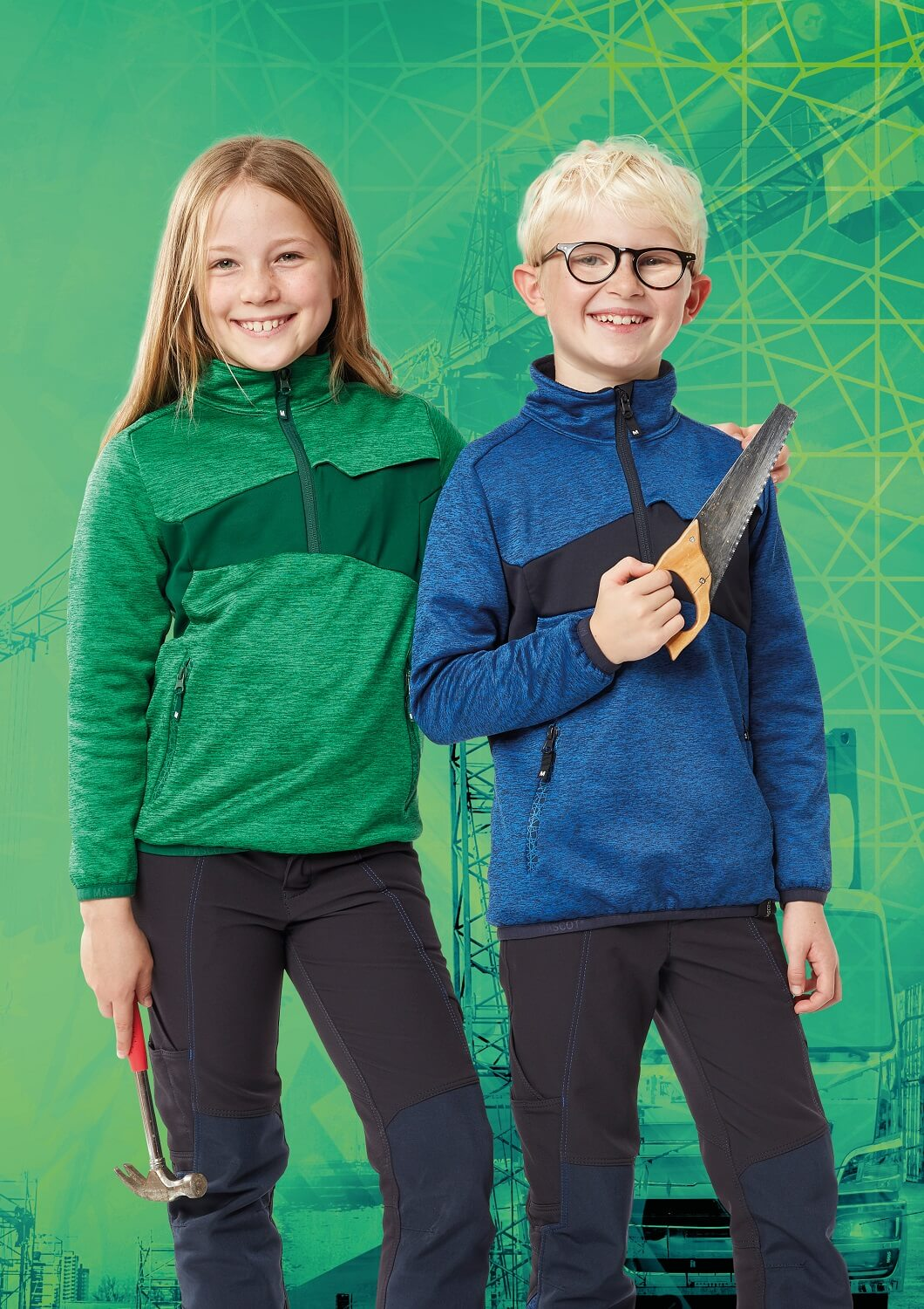 Children's Clothing - Green, Royal blue & Black - MASCOT® ACCELERATE
