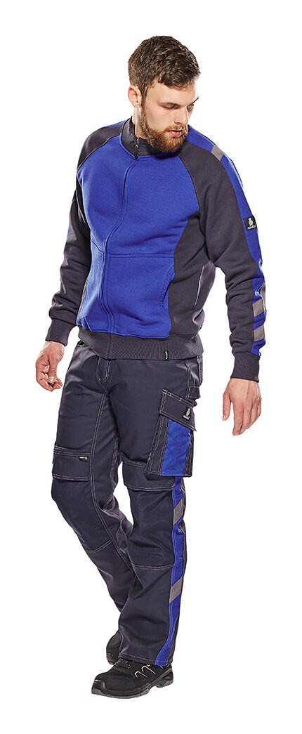 Model - Royal blue - Trousers with kneepad pockets & Zipped Jumper - MASCOT® UNIQUE