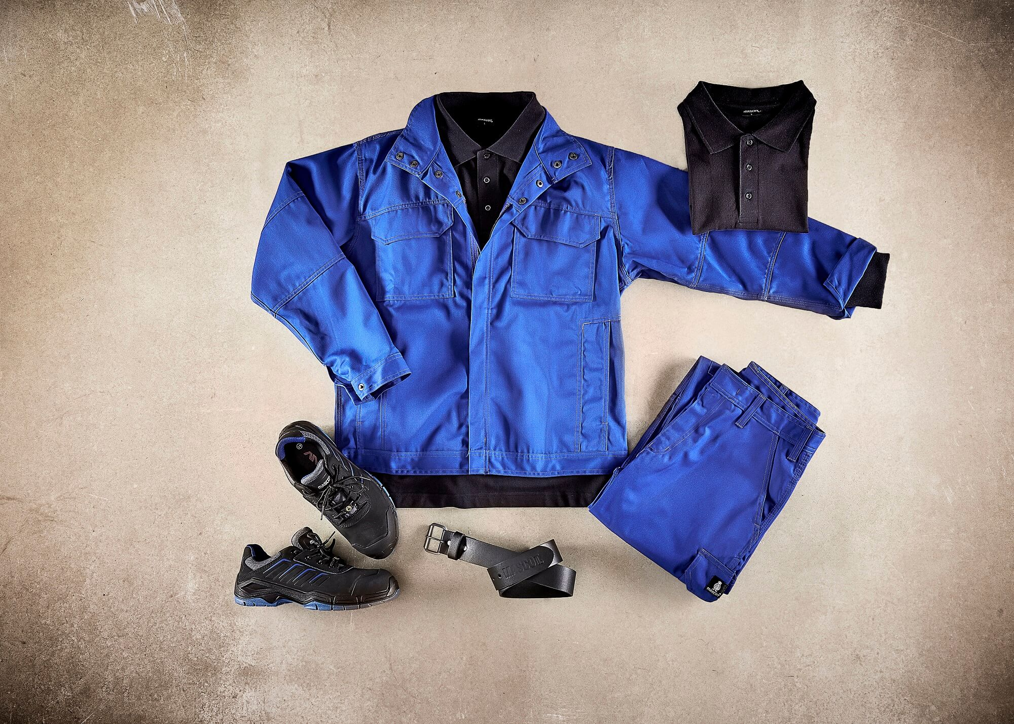 Royal blue - Work Jacket, Trousers & Safety Shoe - Collage