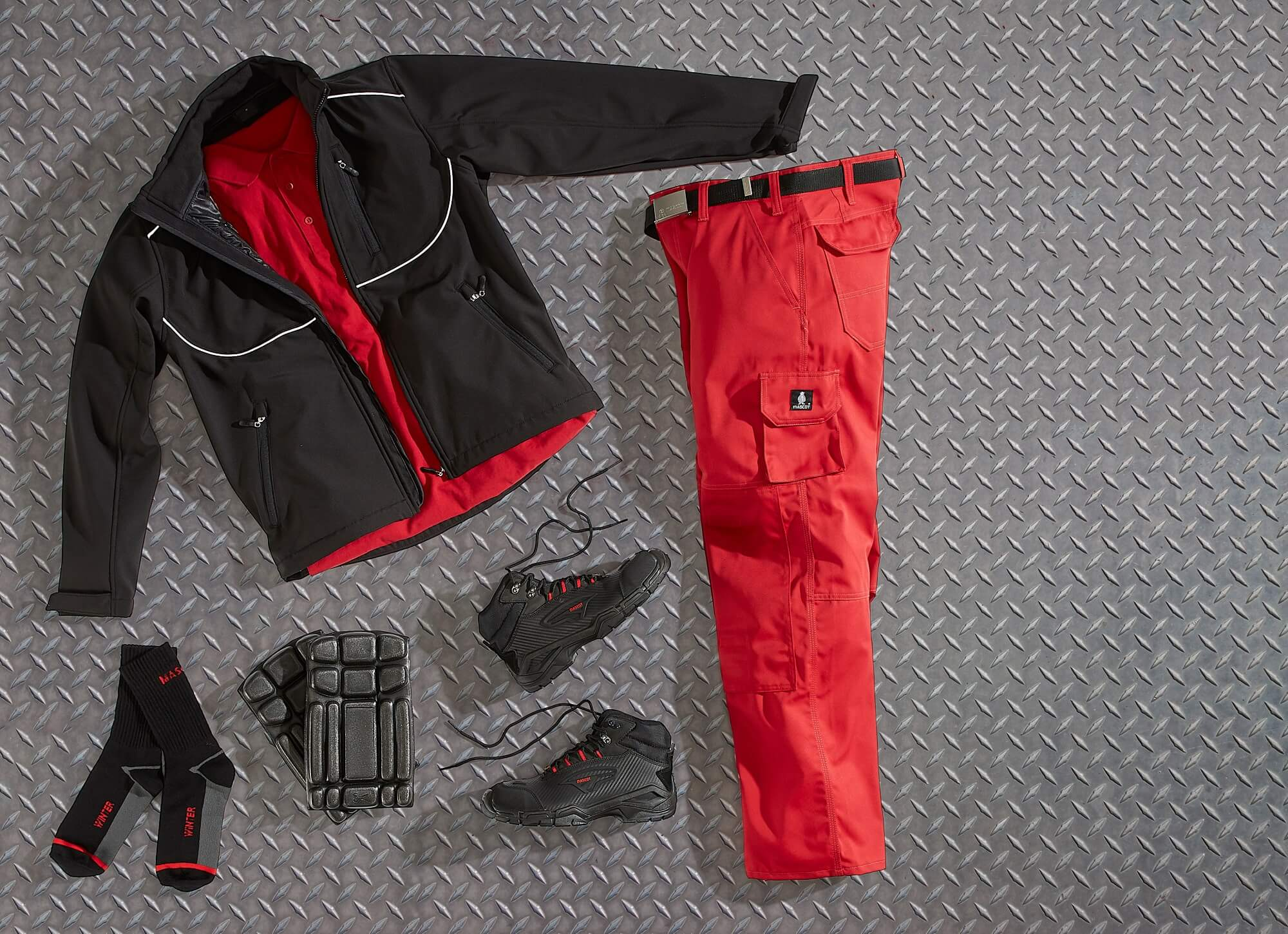 Red - Workwear, Safety Boot & Accessories - Collage