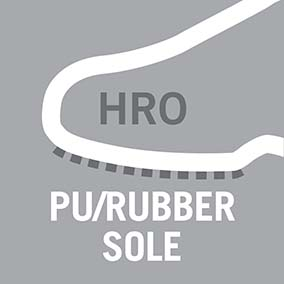 PU/rubber sole material, resistant to 300°C contact heat - Pictogram